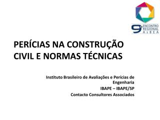 PERÍCIAS NA CONSTRUÇÃO CIVIL E NORMAS TÉCNICAS