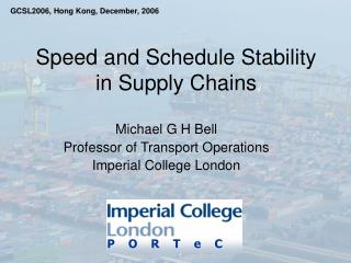Speed and Schedule Stability in Supply Chains