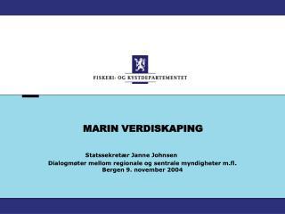 MARIN VERDISKAPING