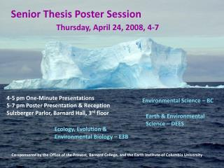Senior Thesis Poster Session
