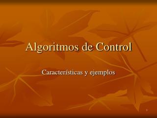 Algoritmos de Control