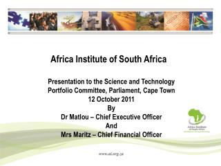 Africa Institute of South Africa
