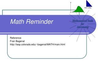 Math Reminder