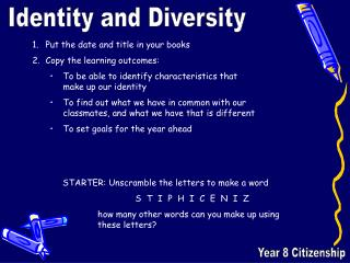 Year 8 Citizenship