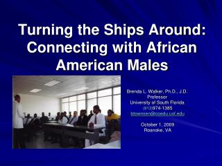 Turning the Ships Around:  Connecting with African American Males
