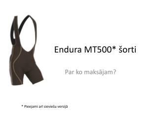Endura MT500* šorti