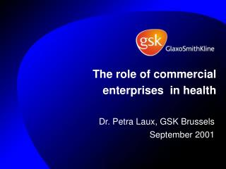 The role of commercial enterprises  in health