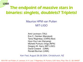 The endpoint of massive stars in binaries: singlets, doublets? Triplets!