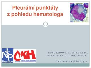 Pleur ln  punkt ty              z pohledu hematologa