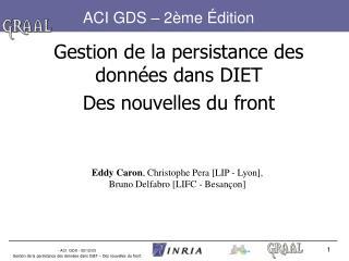 ACI GDS – 2ème Édition