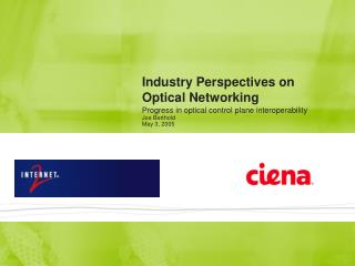Industry Perspectives on  Optical Networking