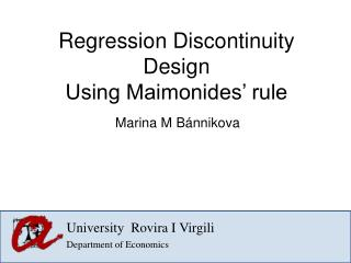Regression Discontinuity Design  Using Maimonides' rule