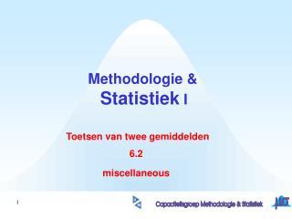 Methodologie & Statistiek  I