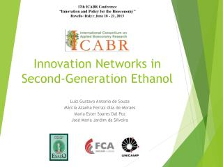Innovation Networks in Second-Generation Ethanol