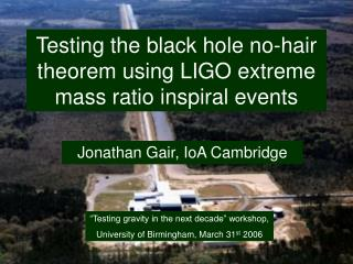 Testing the black hole no-hair theorem using LIGO extreme mass ratio inspiral events