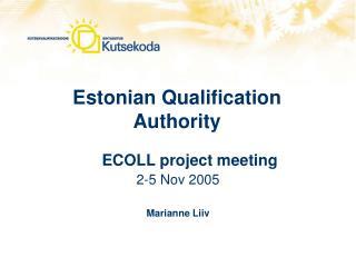 Estonian Qualification Authority