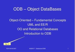 ODB – Object DataBases