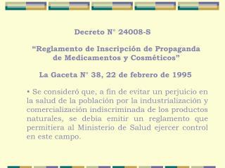 Reglamento de Inscripci n de Propaganda de Medicamentos y Cosm ticos