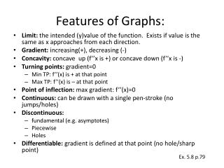 Features of Graphs:
