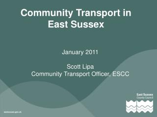 Community Transport in East Sussex