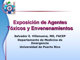 Exposici n de Agentes T xicos y Envenenamientos