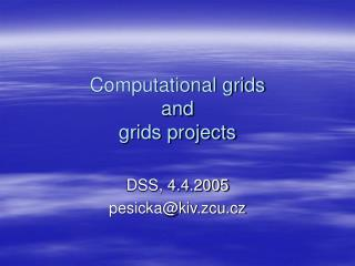 Computational grids  and  grids projects