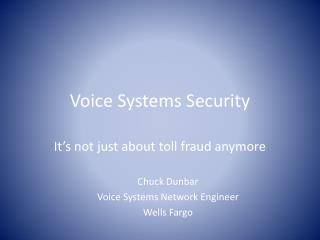 Voice Systems Security