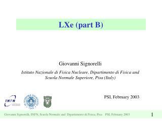 LXe (part B)