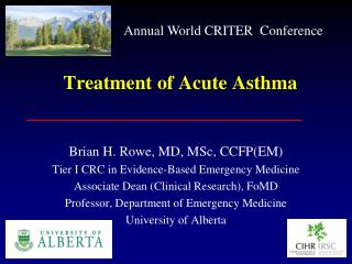 Treatment of Acute Asthma