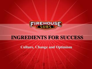 Ingredients for success