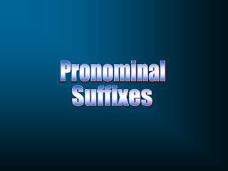 Pronominal
