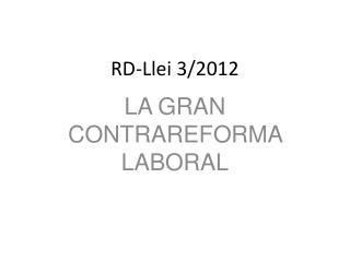 RD-Llei 3/2012
