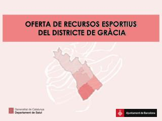 OFERTA DE RECURSOS ESPORTIUS  DEL DISTRICTE DE GRÀCIA