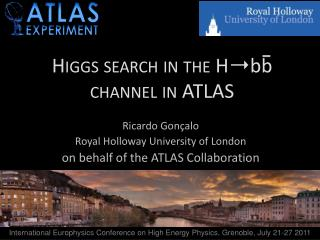 Higgs search in the  H➝bb channel in ATLAS
