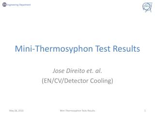 Mini-Thermosyphon Test Results