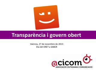 Transparència i govern obert