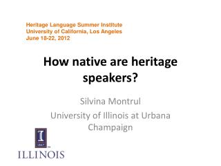 How native are heritage speakers?