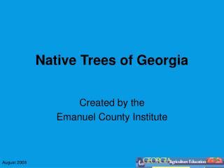 Native Trees of Georgia