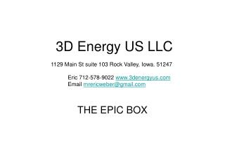 3D Energy US LLC