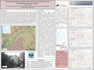 Georeferencing  Rapid Bio-Assessment Survey Data: GIS Applications in the