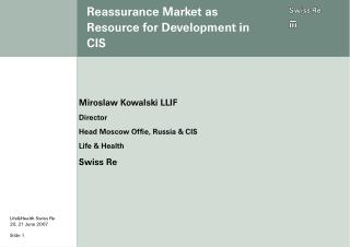 Reassurance Market as Resource for Development in CIS