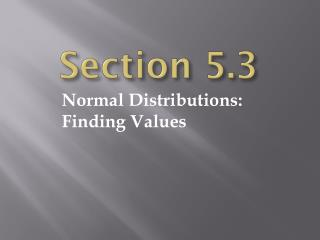 Section 5.3