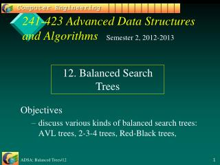 241-423 Advanced Data Structures and Algorithms