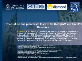 Synchrotron and pion beam tests of 3D  Medipix2  and TimePix  Detectors