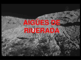 AIGÜES DE RIUERADA