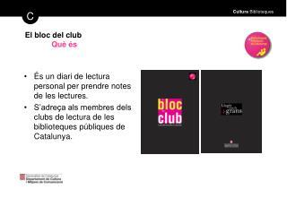 El bloc del club Qu� �s