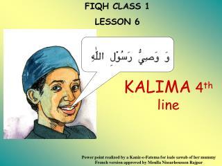 FIQH CLASS 1 LE SSON 6