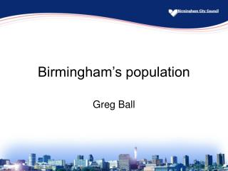 Birmingham's population