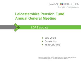 Leicestershire Pension Fund Annual General Meeting