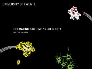 Operating Systems 15 - security